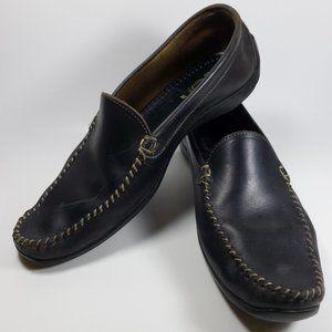 Allen Edmonds El Passo Black Leather Loafers 10.5